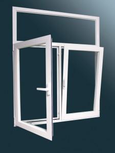Praktikusan nyitható műanyag ablak